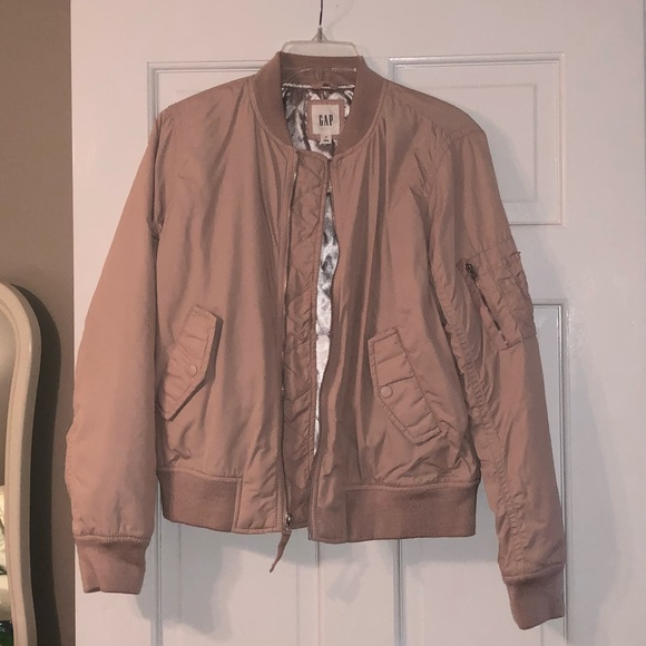 a3d125b32 NWOT Light Pink GAP Bomber Jacket
